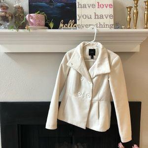 White pea coat forever 21